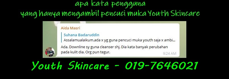 testimoni youth cleanser