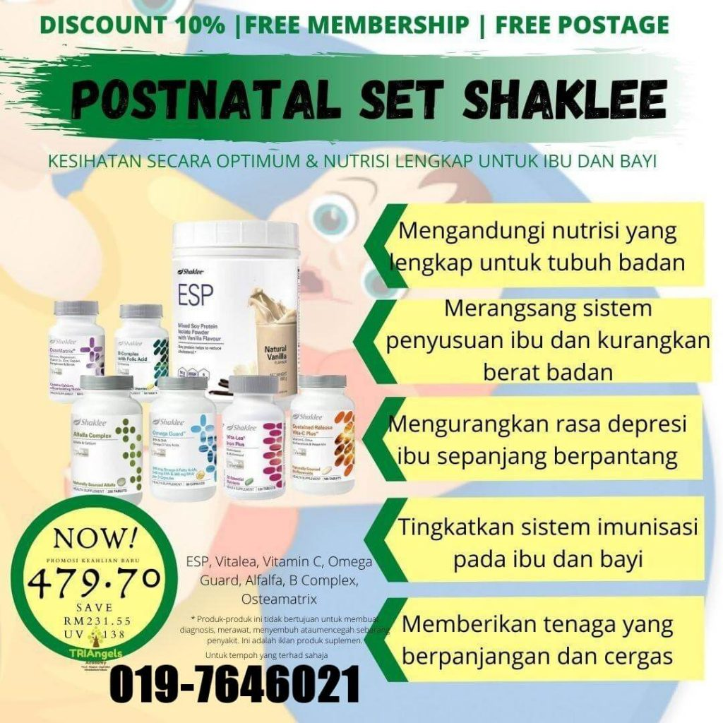 review set bersalin shaklee